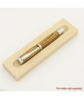 Atrax Style Fountain or Rollerball Pen in Zebra wood