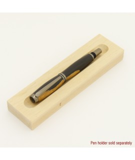 Baron Style Fountain or Rollerball Pen in African Blackwood