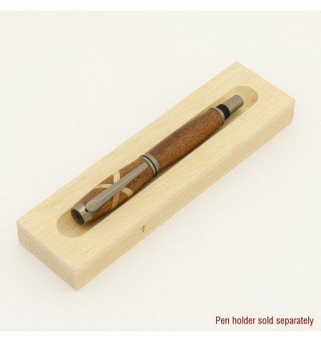 Baron Style Rollerball or Fountain Pen in Sapele