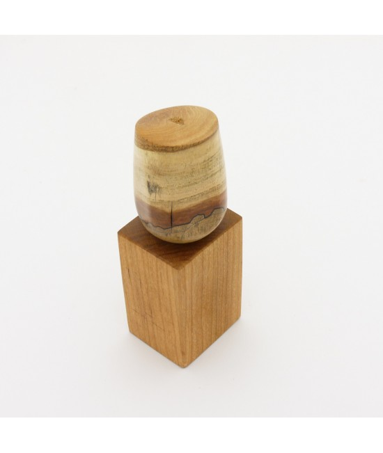 Wine Bottle Stopper in Spalted Maple