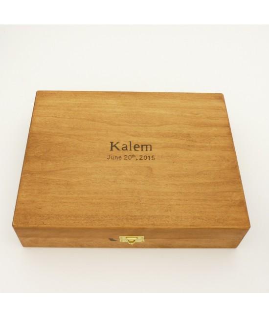 Custom Wedding Gift Box Set in Maple