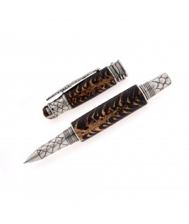 Dragon Style Rollerball Pen in Spruce Cone and Black Resin