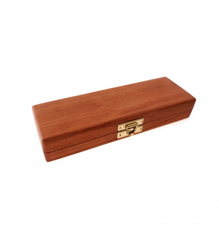 Double-Pen Wooden Pen Case in Cherry