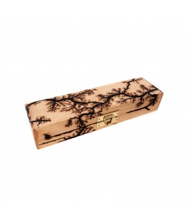 Single-Pen Wooden Pen Case in Maple with Lichtenberg Burn Pattern