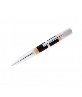 Pensar Style Ballpoint Pen in Bog Oak with Ash Burl Rings